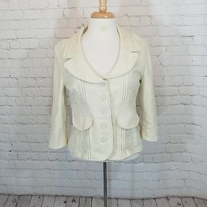 "Cream ""woven"" jacket"
